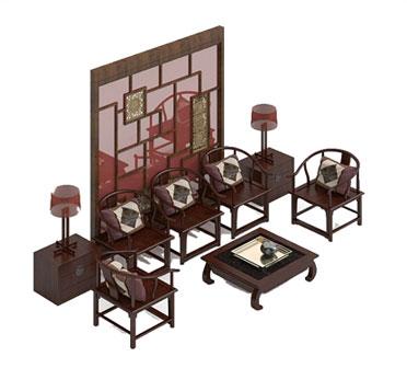 别墅装修-现代中式装修泰州别墅装修设计-玄关装修效果图