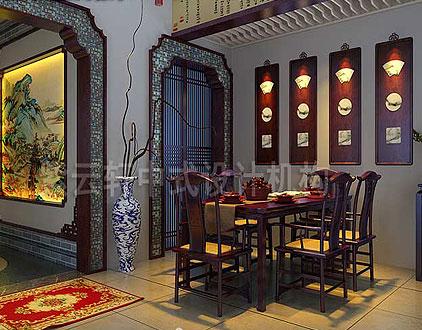 郑州私人会所餐饮区中式装修效果图