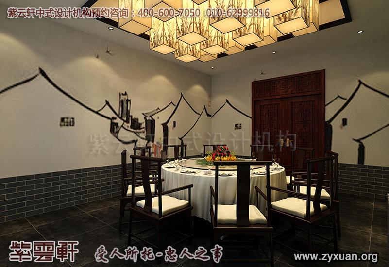 天津私房菜餐厅酒楼装修,餐厅小包间中式装修效果图
