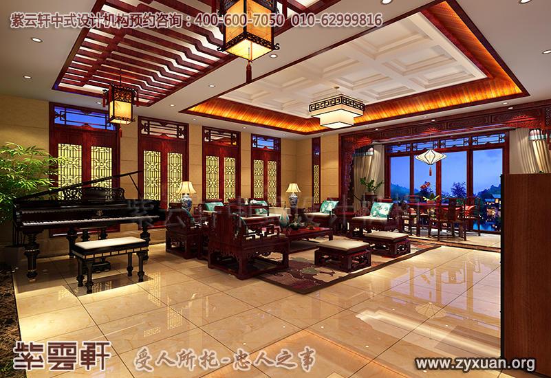 青岛古典别墅装修效果图,主卧起居室装修设计图片