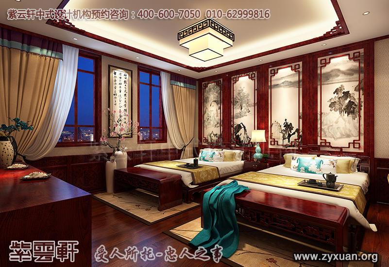 别墅中式装修图片,客卧古典装修效果图