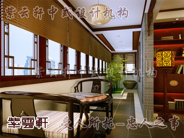 中式装修阳台1