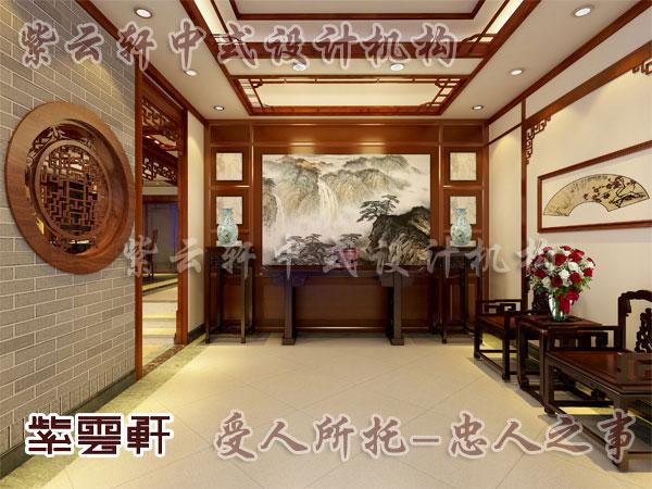 中式风格玄关_紫云轩中式设计图库