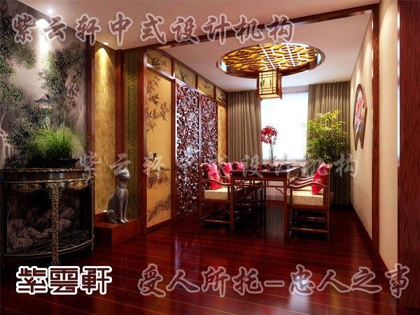 中式裝修餐廳14 來源:紫云軒中式設計機構 說明:中式裝修餐廳效果圖的