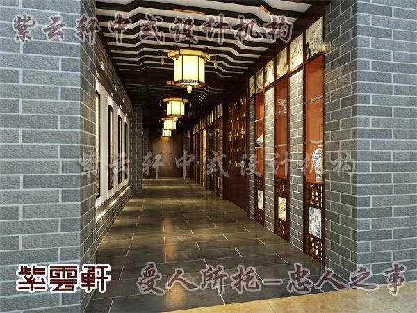 新中式吊顶 走廊 餐厅,别墅中式走廊吊顶,中式走廊吊顶效果图高清图片