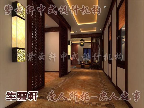 中式装修过道6_紫云轩中式设计图库