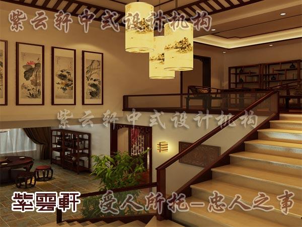 中式古典装修中式楼梯间2