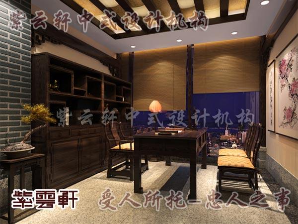中式装修中的书房5