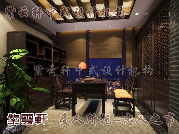 中式装修中的书房8