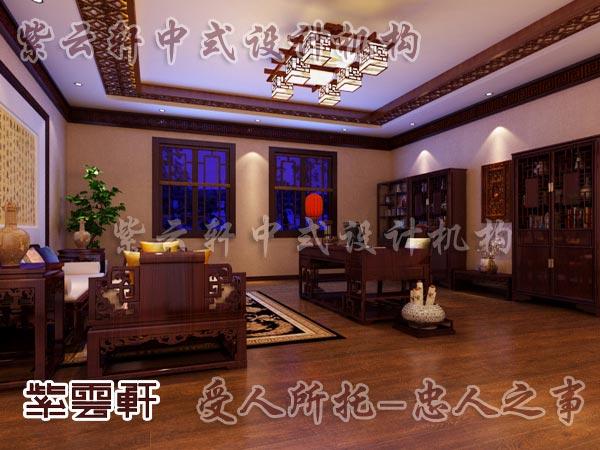 中式装修中的书房16