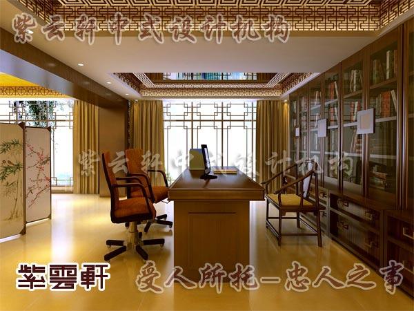 中式装修中的书房19