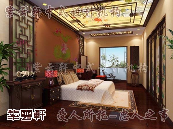 中式装修中的卧室2