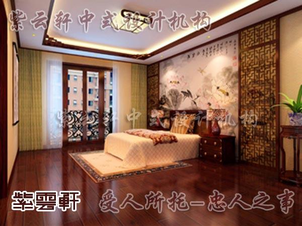 中式装修中的卧室6