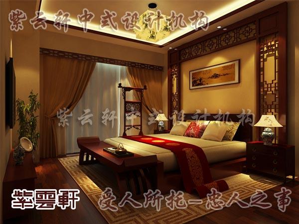 中式装修中的卧室8