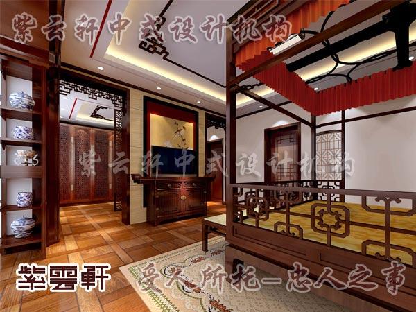 中式装修中的卧室14