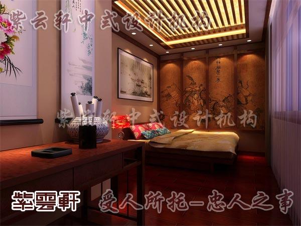 中式装修中的卧室11