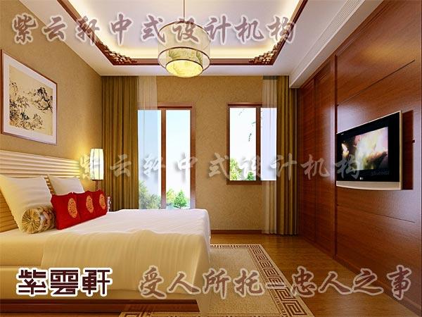 中式装修中的卧室12