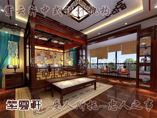 中式装修中的卧室13