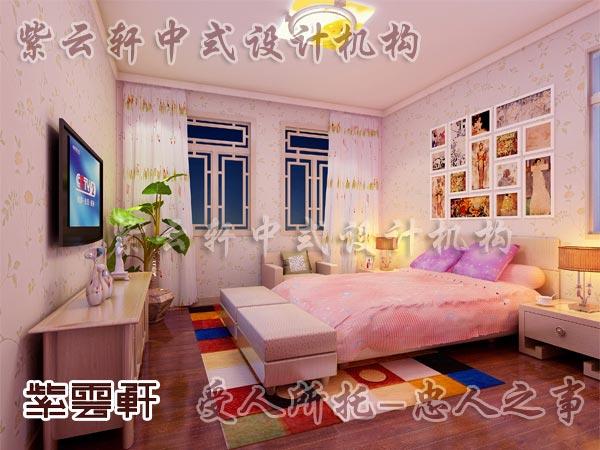 中式装修中的卧室17