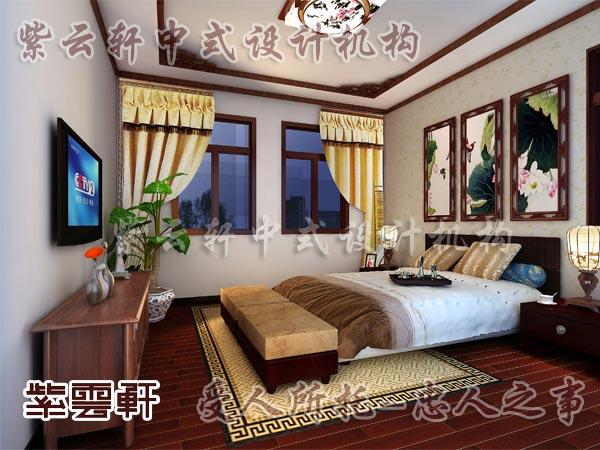 中式装修中的卧室18