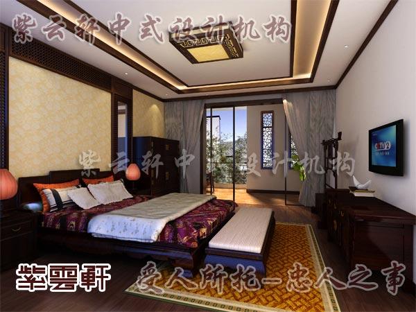 中式装修中的卧室19