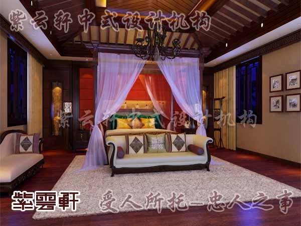 中式装修中的卧室22