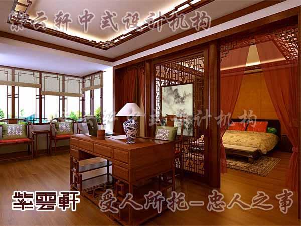 中式装修中的卧室23