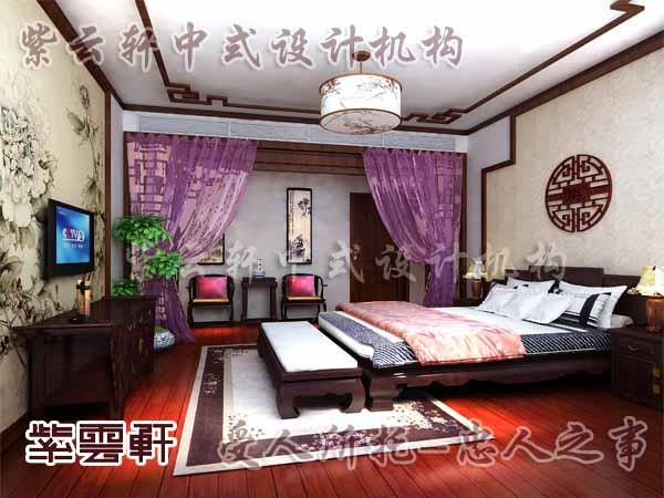 中式装修中的卧室24