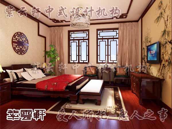 中式装修中的卧室25