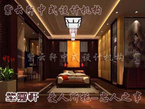 中式装修中的卧室26