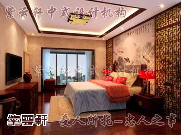 中式装修中的卧室27