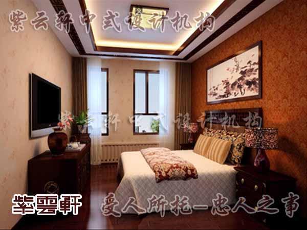 中式装修中的卧室28