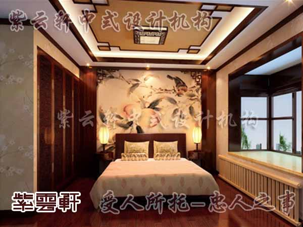 中式装修中的卧室29
