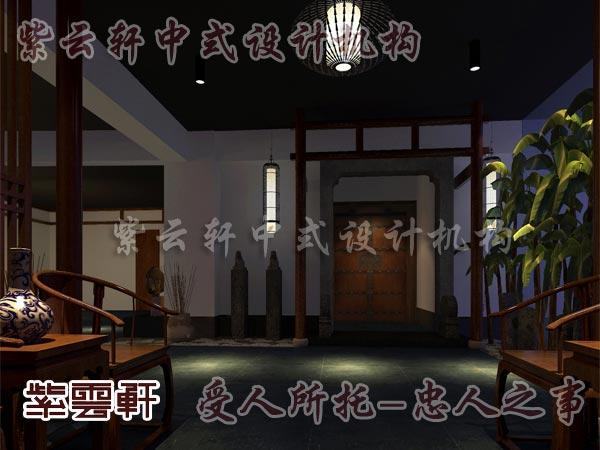 中式装修中的玄关2