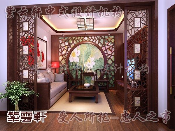 中式装修中的玄关10