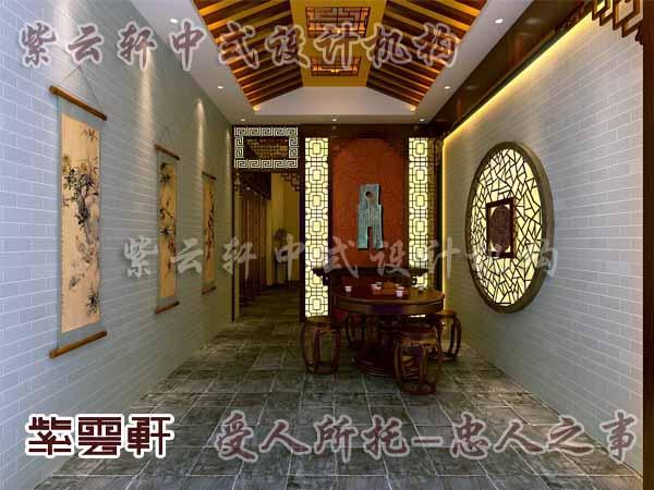 中式装修中的玄关17