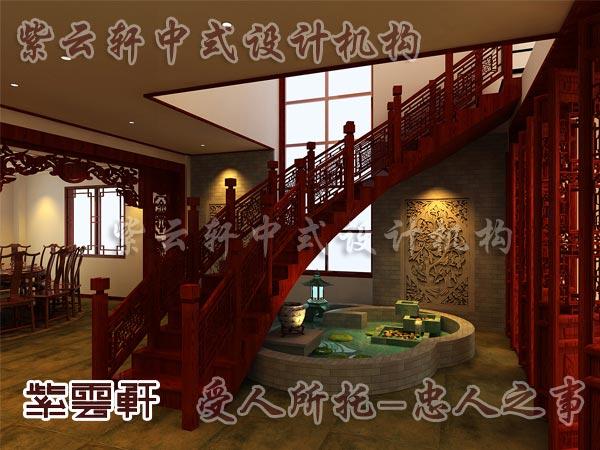 中式楼梯间风格7_紫云轩中式设计图库