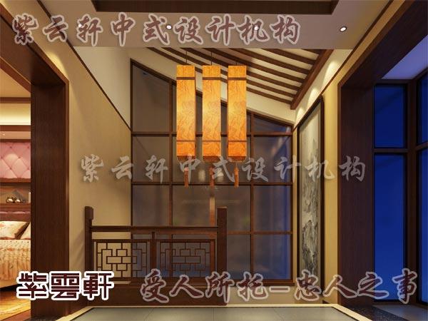 中式楼梯间装修效果图