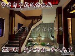 中式会所楼梯设计