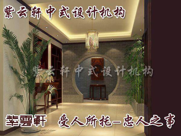 中式门厅装修效果图