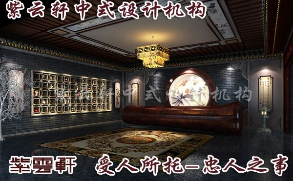 别墅设计之中式门厅装修效果图