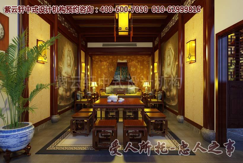 简约中式茶楼设计效果图