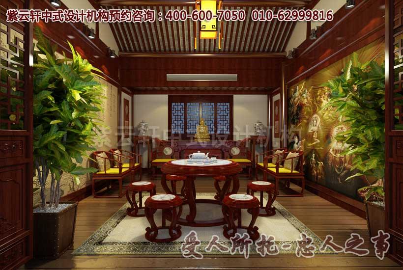 庄重典雅的中式茶楼包间装修效果图