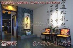 北京鹤年堂中式会所门厅设计效果图