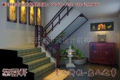 北京鹤年堂中式会所楼梯设计效果图