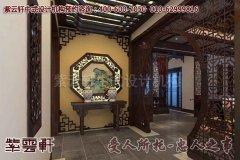 简朴淡雅的中式别墅玄关装修效果图