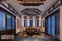 宁静高雅别墅餐厅中式装修效果图