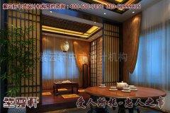 静谧幽然的中式会所茶室装修效果图