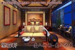 古朴自然的会所卧室中式装修效果图