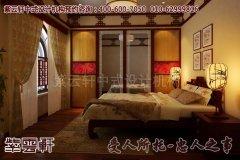 浪漫舒适的中式别墅卧室设计效果图